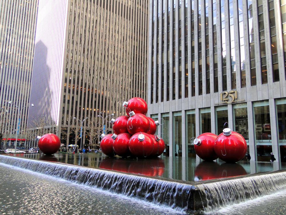 Weihnachten New York Christbaumkugeln